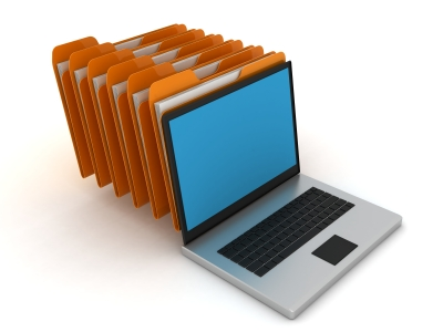 mappen en laptop